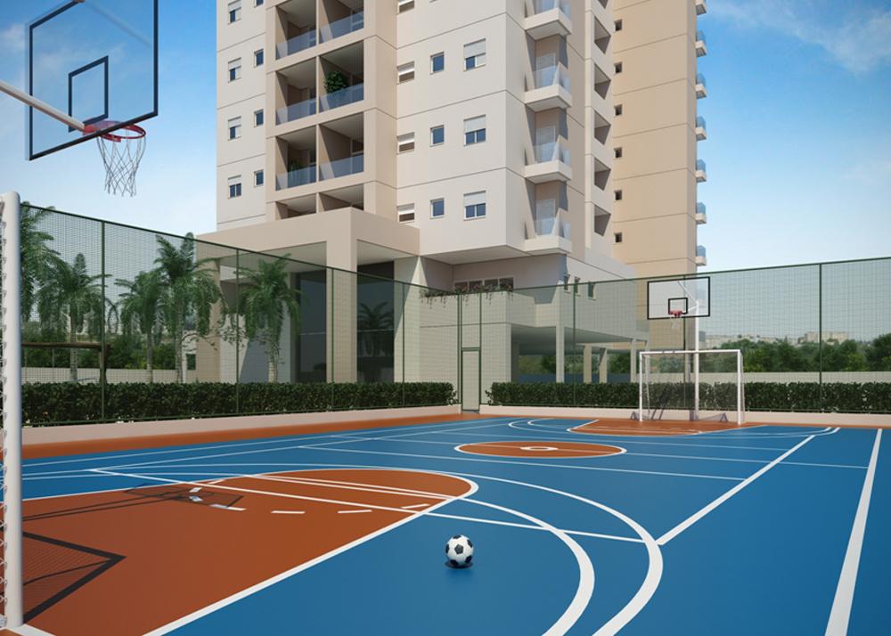E Quadra a quadra esportiva dentro dos prédios - retaprene poliuretanos